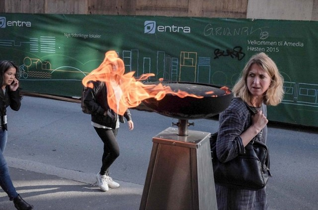 Rosto em chamas