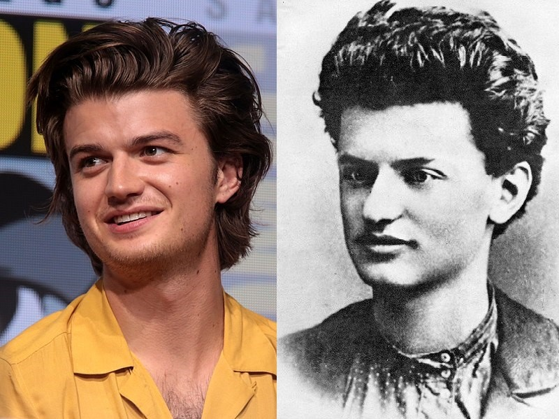 Joe Keery e Leon Trotsky