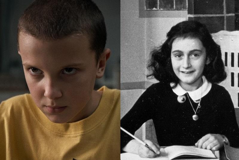 Millie Bobby e Anne Frank