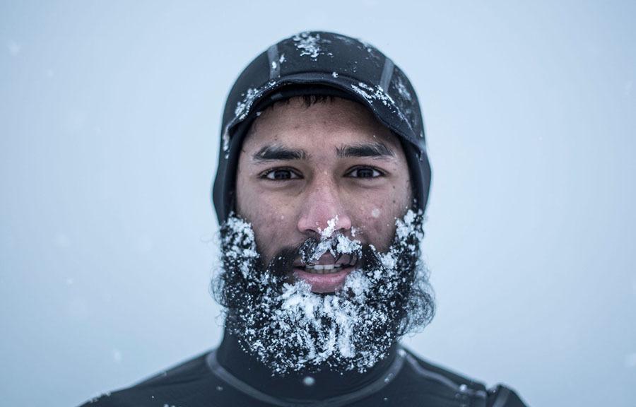 Barba congelada