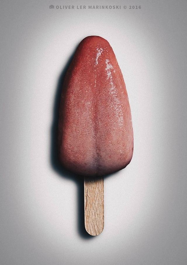 Picolé de língua