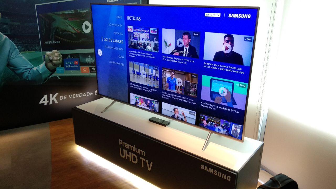 Samsung já demonstra nas lojas seu app 4K para a Copa