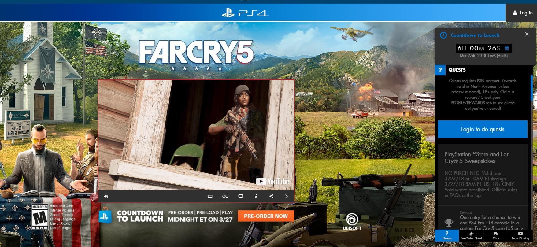 Far Cry 5 playstation psn