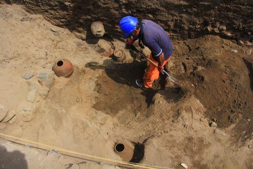 Sítio arqueológico no Peru