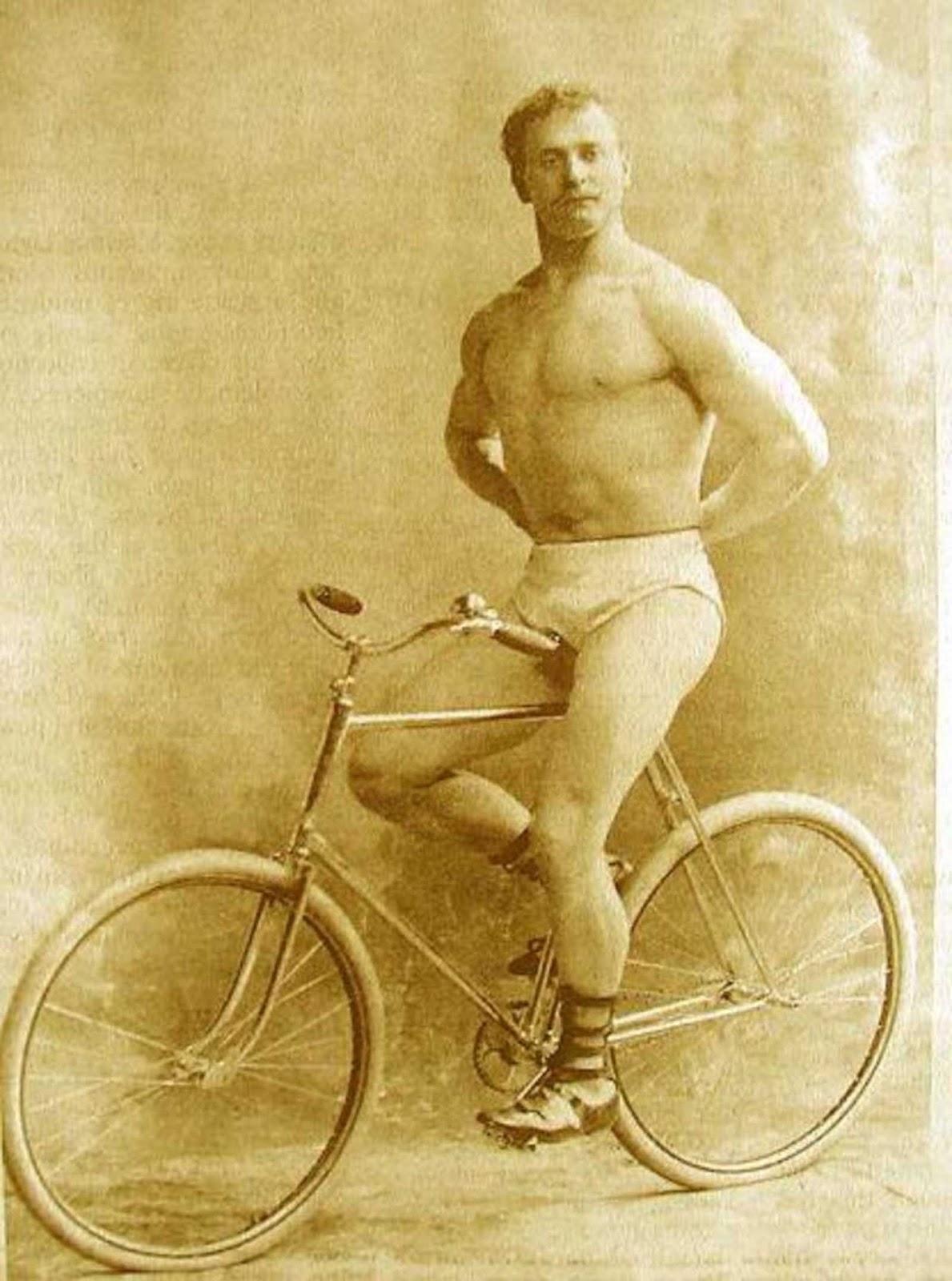 Montado na bike