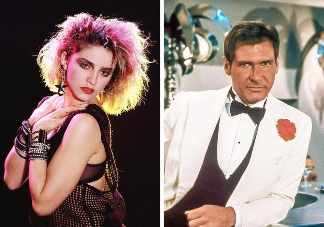 Madonna e Harrison Ford