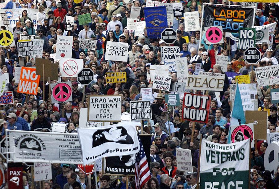 Protestos  contra a guerra