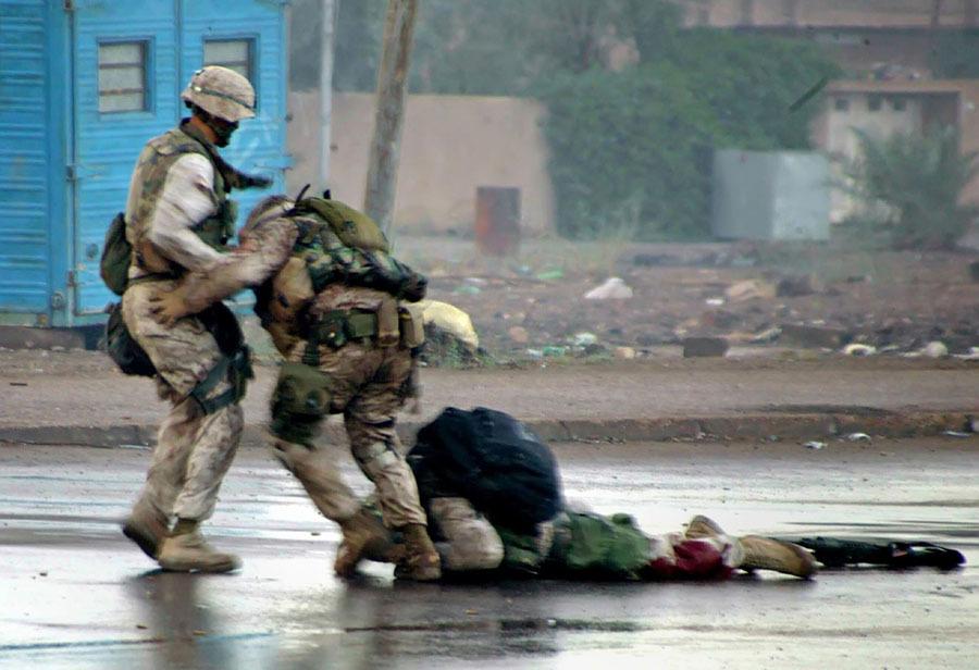 Soldado ferido no Iraque