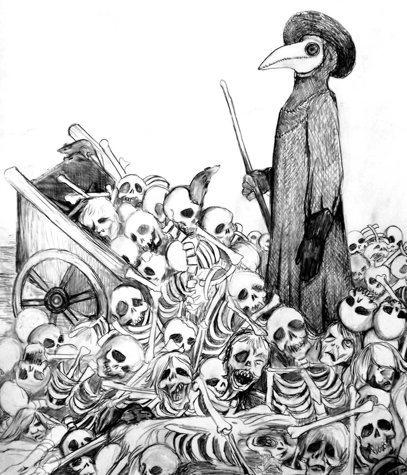 Ilustração da Peste Negra
