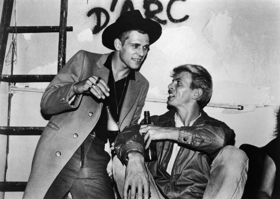 David Bowie e Paul Simonon