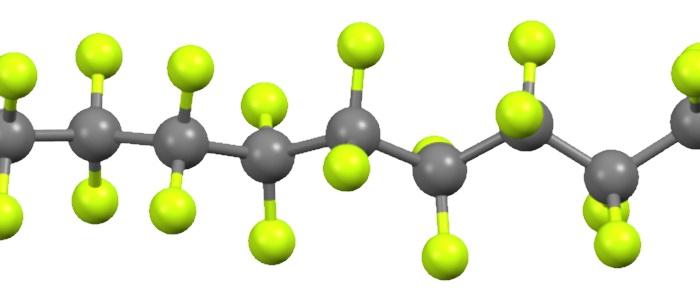 Estrutura química do Teflon