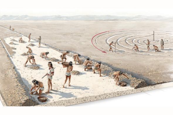 Ilustração de antigos peruanos