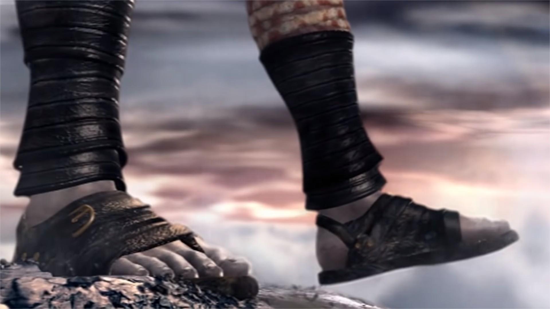 kratos se joga montanha