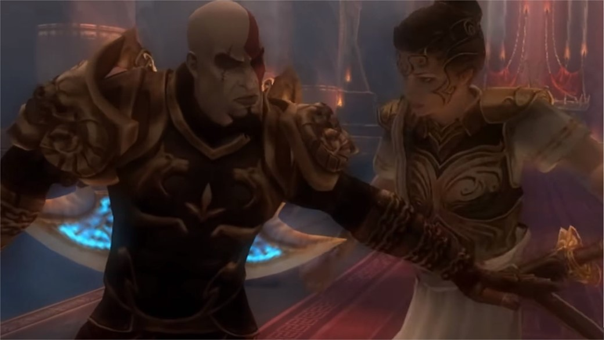 kratos atena arguing