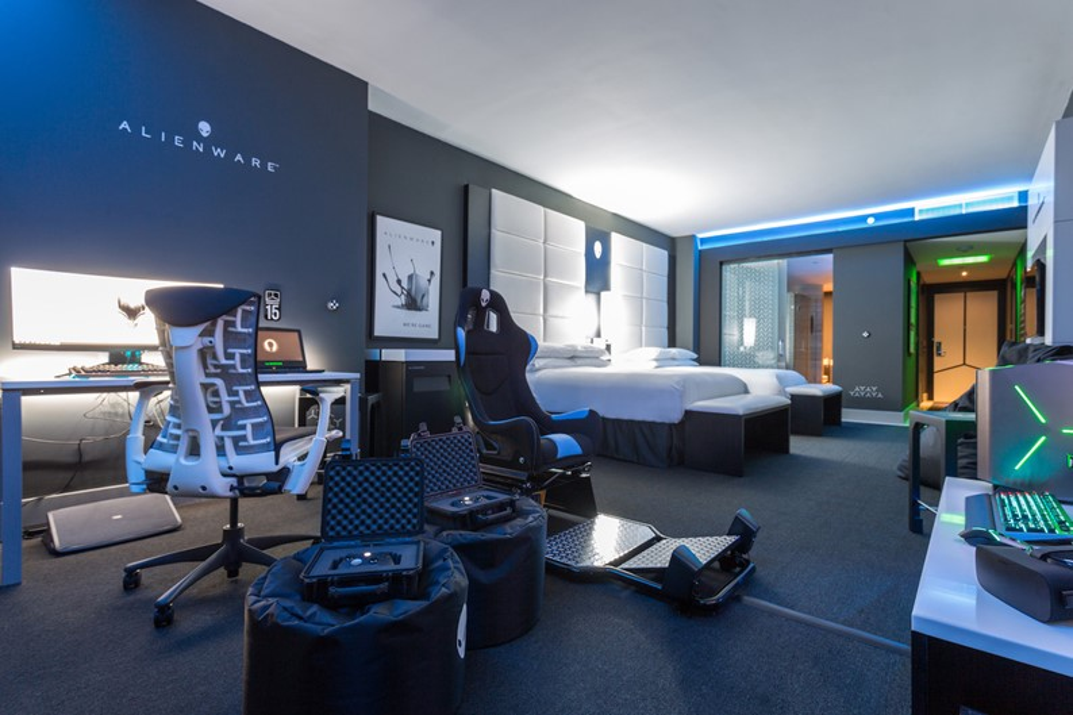 Alienware Room transforma quarto de hotel no Hilton Panamá em paraíso gamer