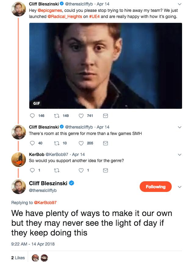 Cliff B pistola