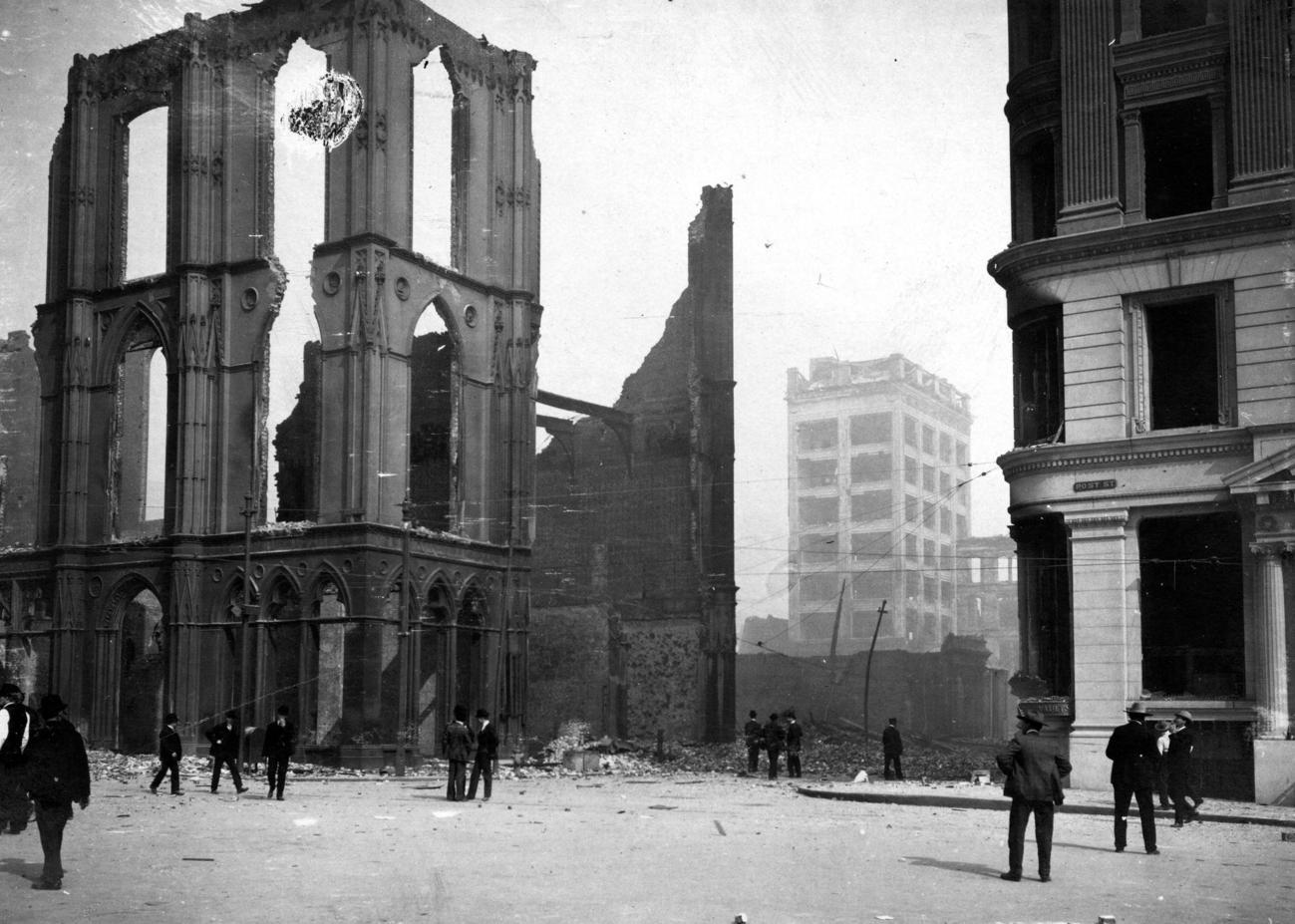 Edifícios destruídos