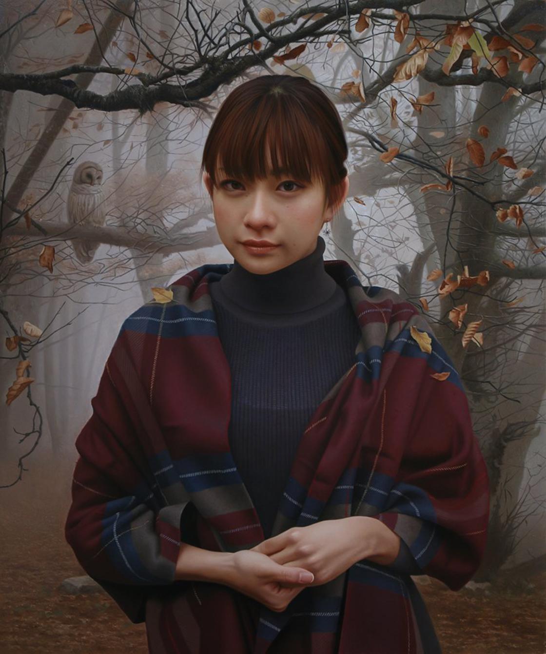 Garota japonesa em um bosque