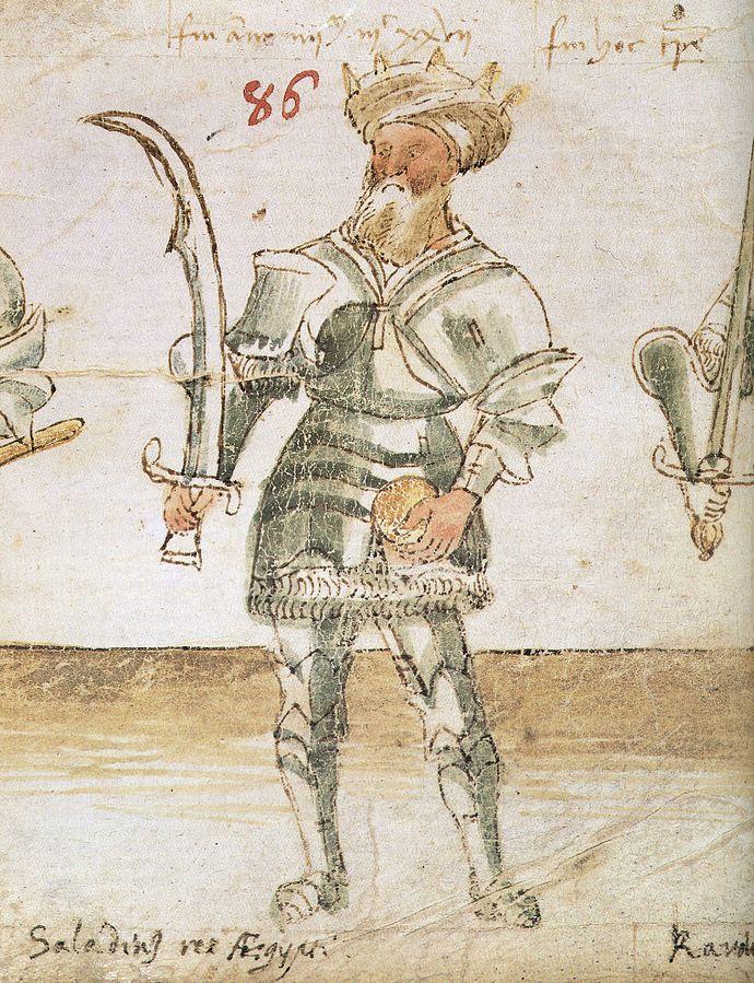 Ilustração mostrando Saladino