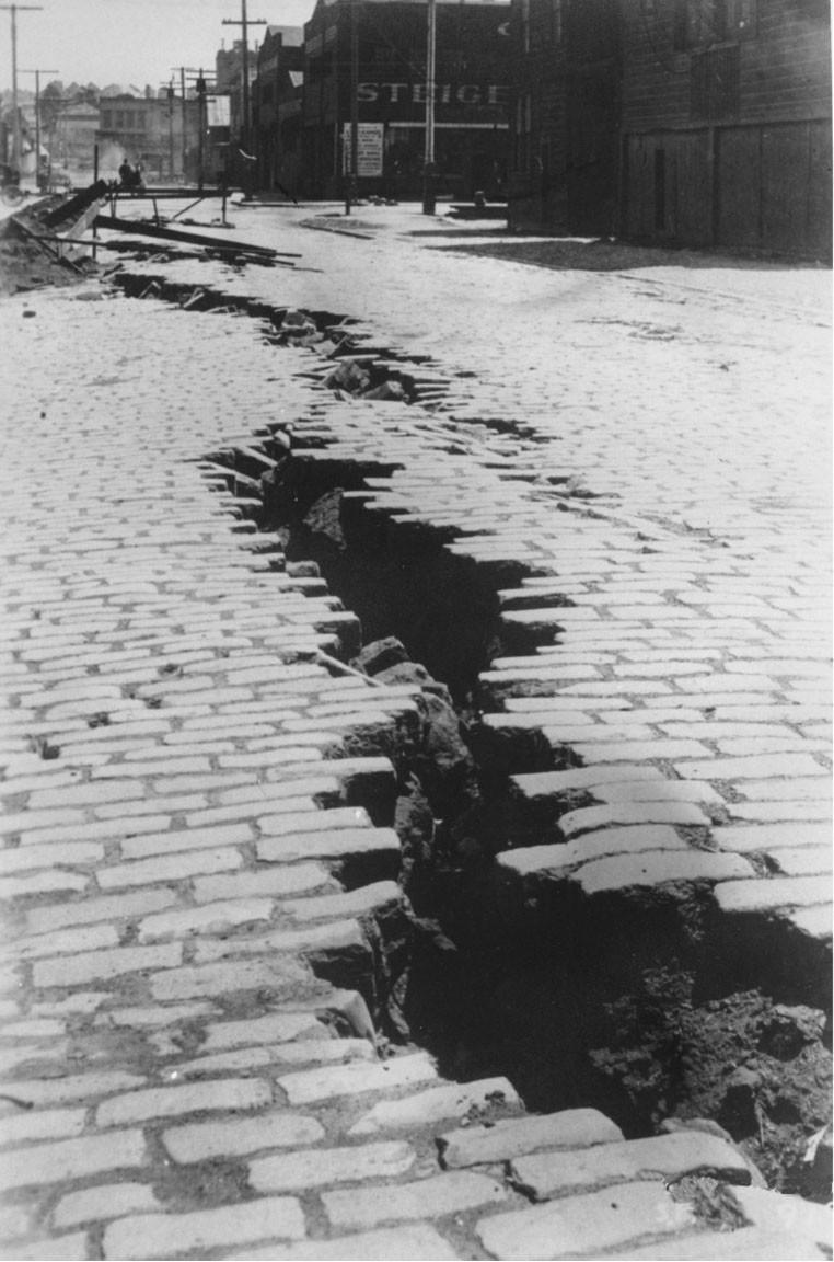 Pavimento destruído