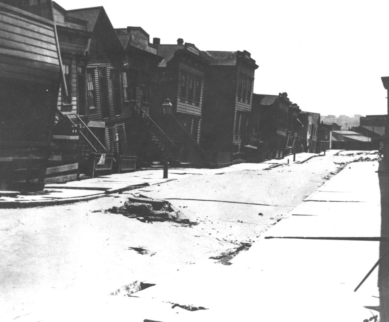 Residências danificadas