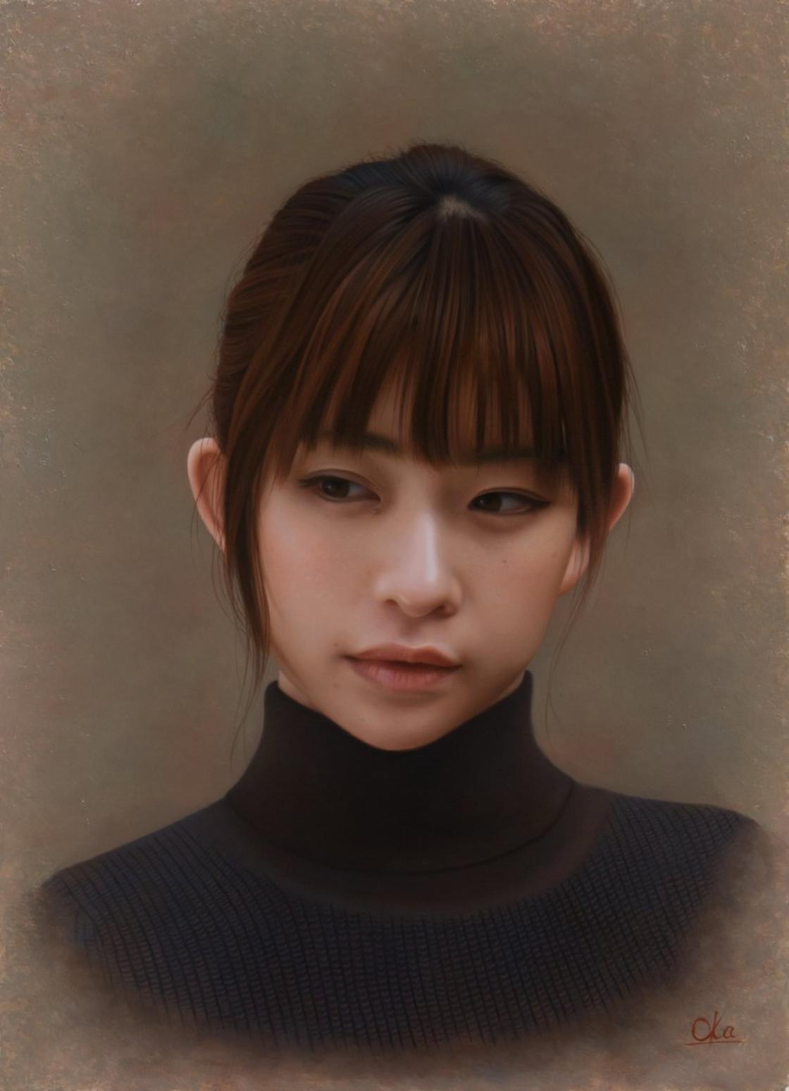 Retrato de moça japonesa