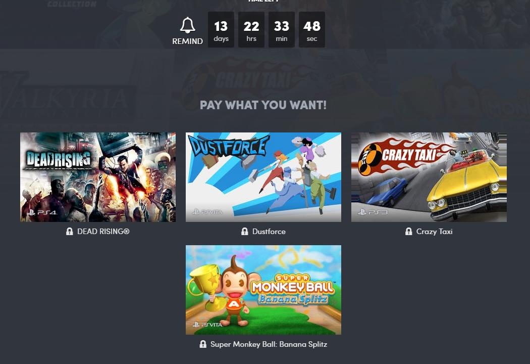 Humble Bundle traz crossover da SEGA, Capcom e PlayStation com vários games