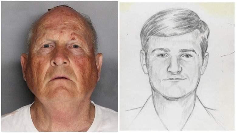 Um homem e um desenho.