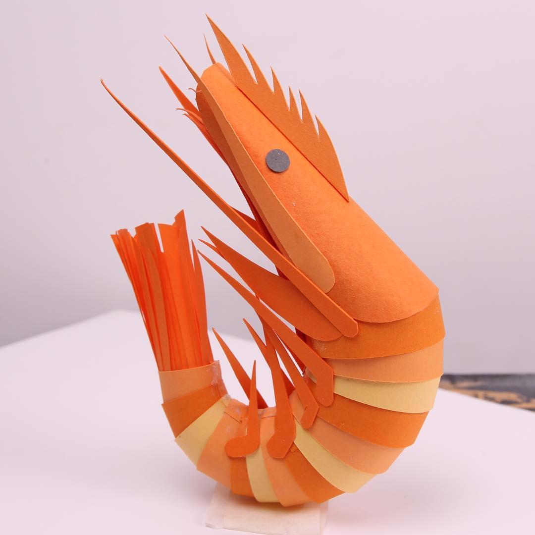 Camarão de papel