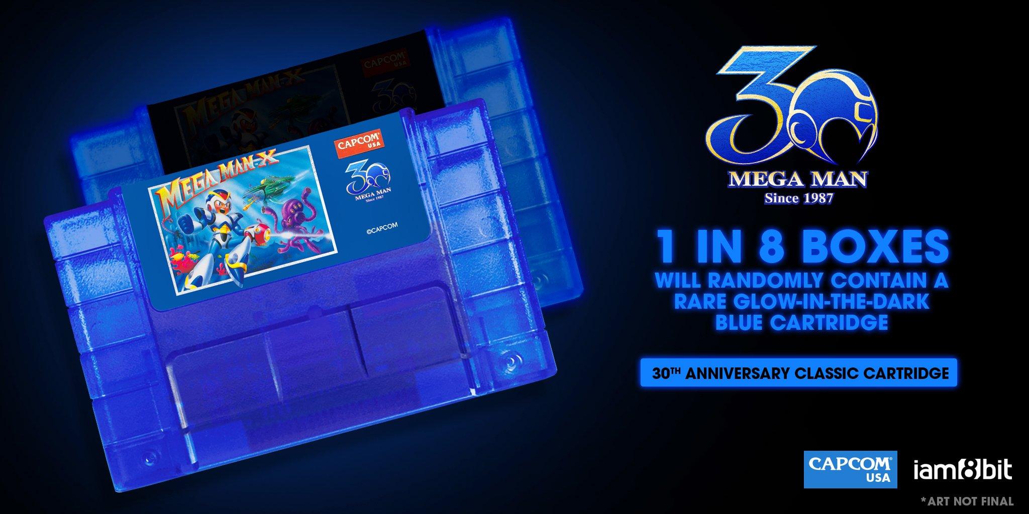 Capcom e Iam8bits anunciam versão de 30 anos dos cartuchos de Mega Man