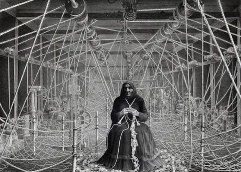Fazendo tricô