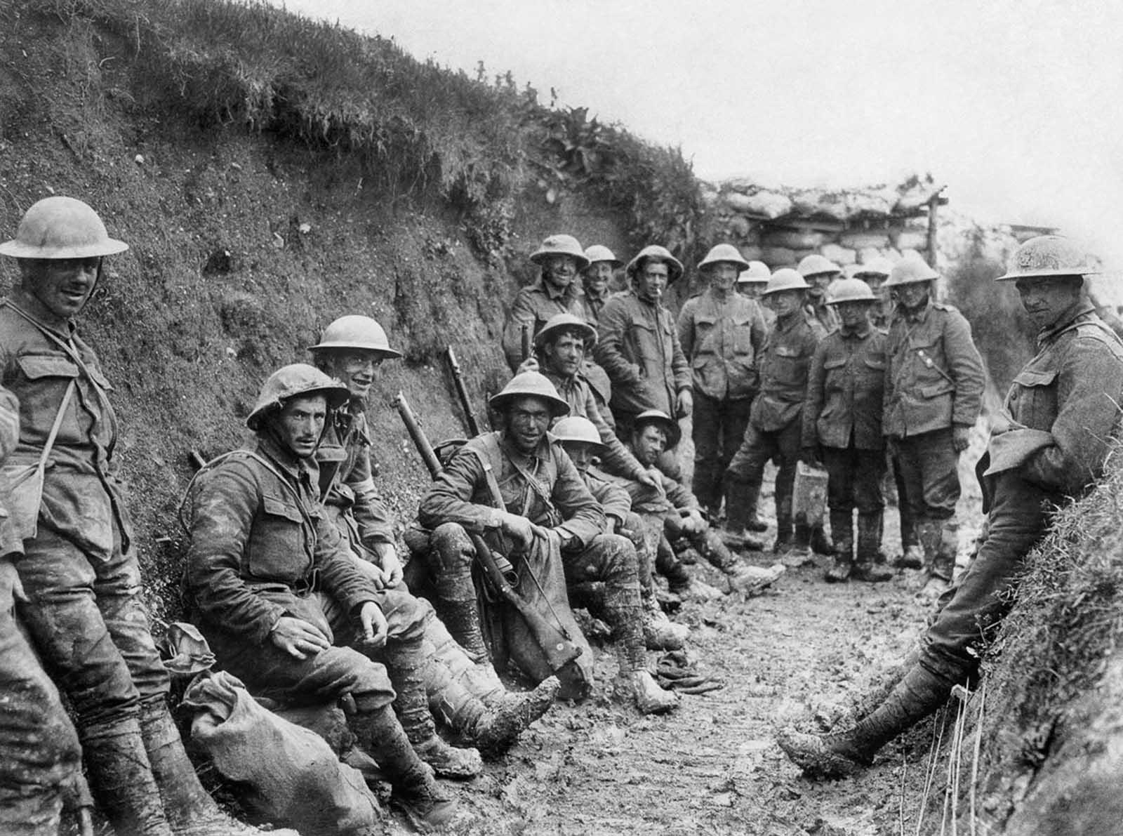 Vida nas trincheiras em Somme