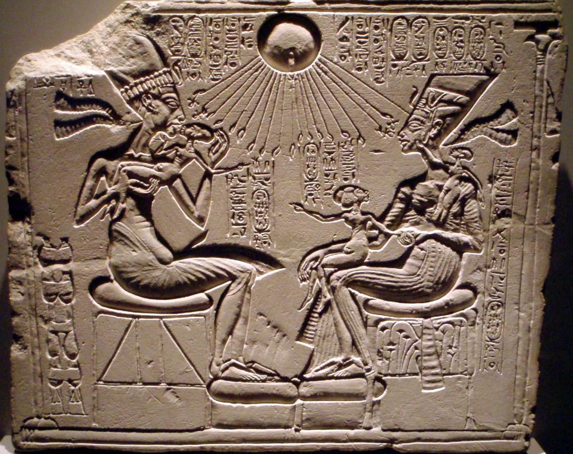 Nefertiti e Akhhenaton