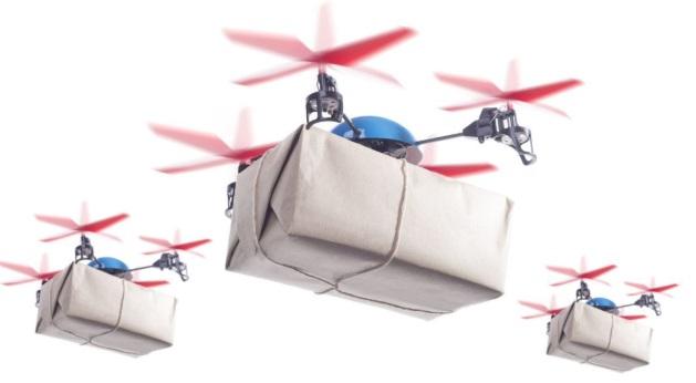 Drones voando.