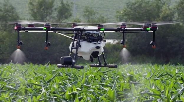 Um drone voando.