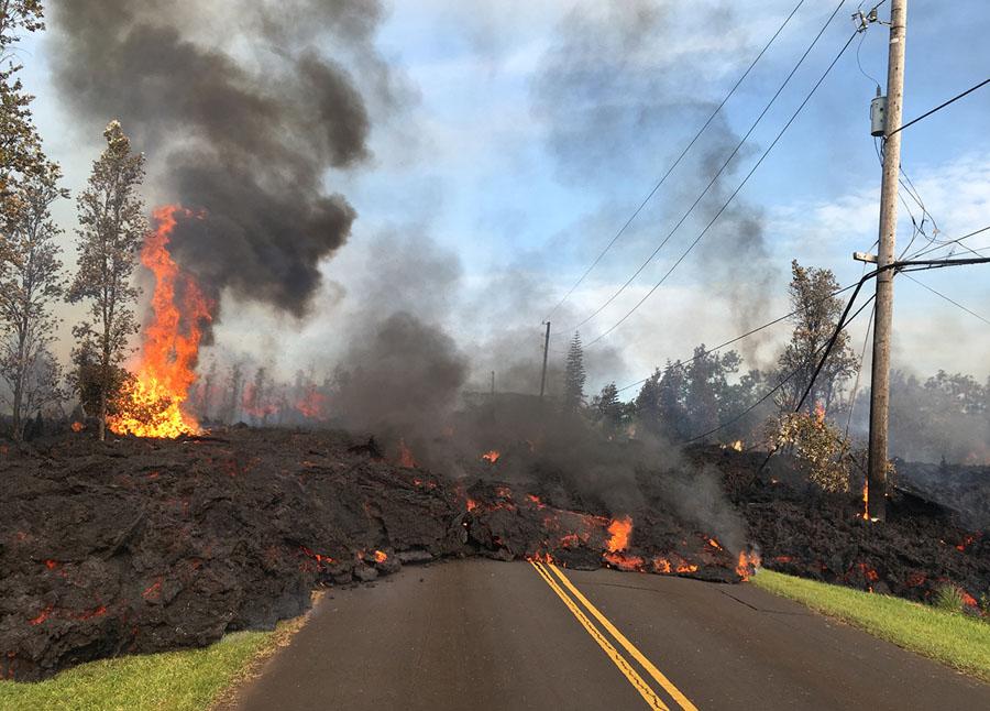 Via engolida por magma