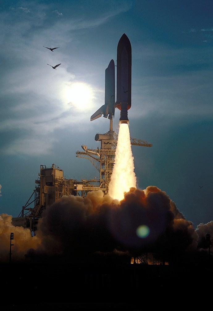 Um foguete.