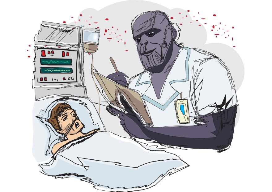 Thanos trabalhando