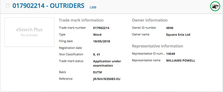 """Square Enix registra a marca """"Outriders"""" na Europa e levanta especulações"""