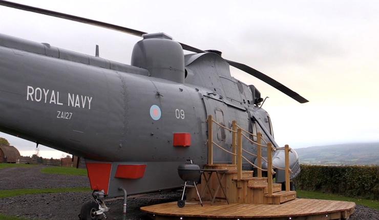 Helicóptero que virou hotel