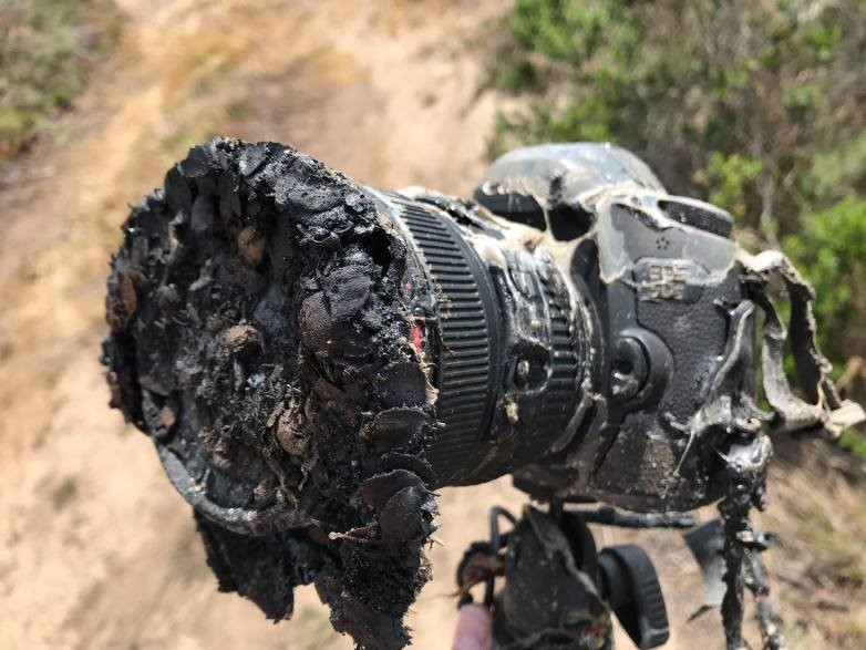 Câmera derretida