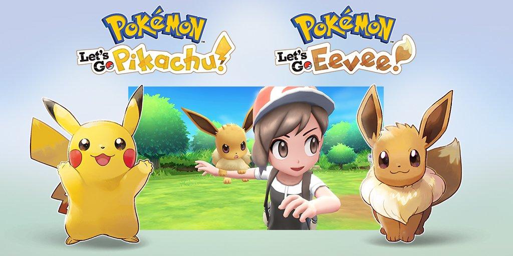 Pokémon Let's Go Pikachu e Pokémon Let's Go Eevee são revelados para Switch
