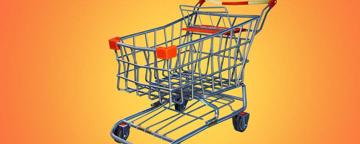Fortnite Battle Royale recebe carrinho de compras como veículo em update