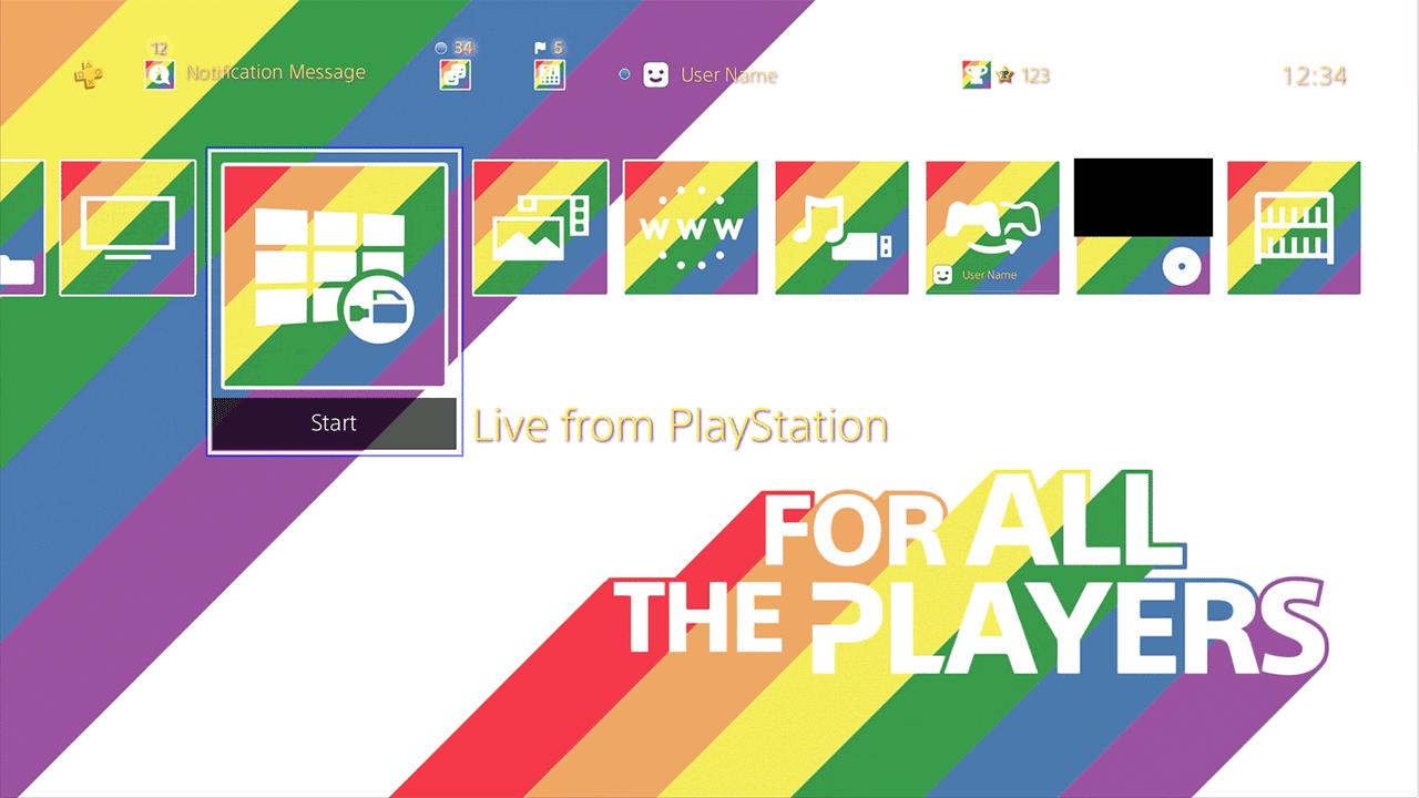 Celebrando o mês do orgulho LGBT, PlayStation 4 ganha tema gratuito