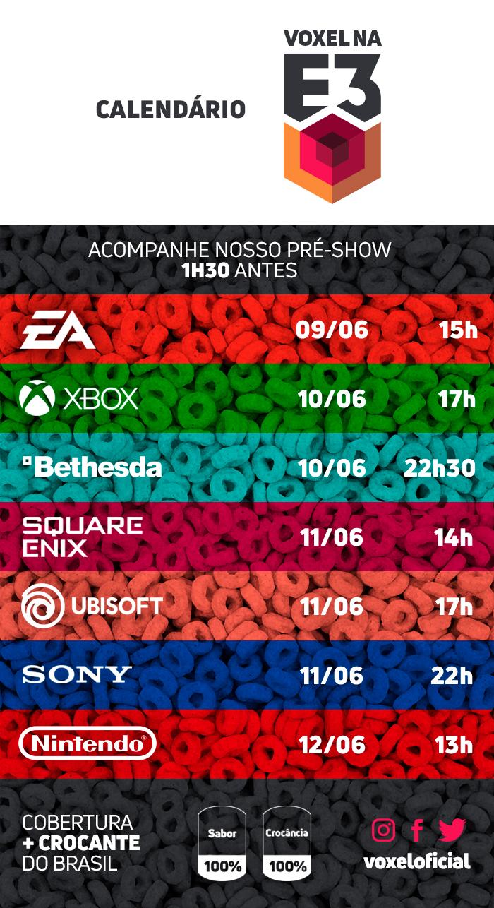 E3 Calendario.Guia E3 2018 Saiba Os Dias E Horarios De Cada Conferencia