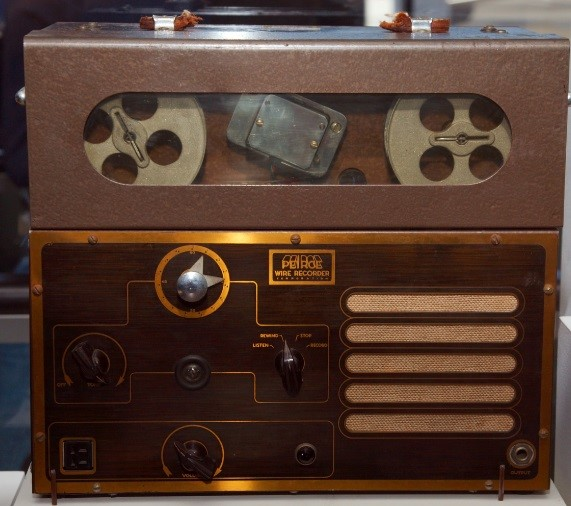 Um gravador de fio.