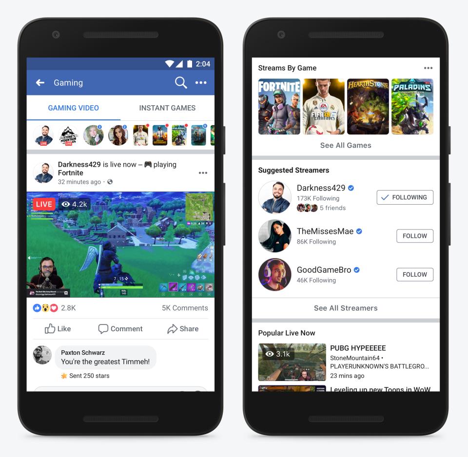 Facebook lança plataforma dedicada a streaming de games
