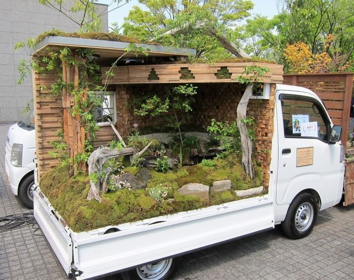 jardim em caminhonete