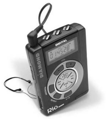 Um MP3 Player.
