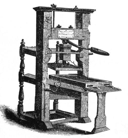 Uma prensa antiga.